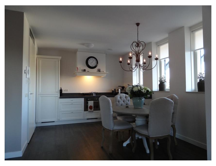 Schilder Haaften - Keuken met krijtverf muren appartement Haaften