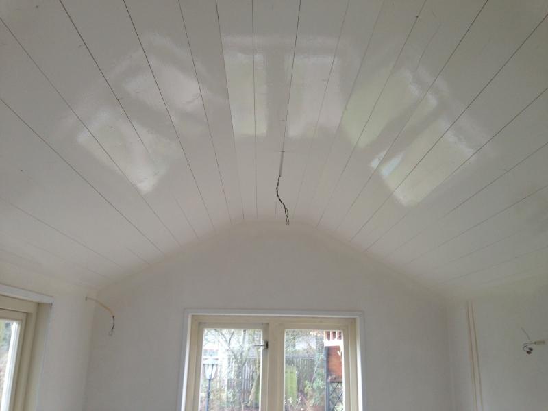 Gespoten plafond huis Geldermalsen - schilder