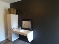 Schilder Aalst - gesausde muur en spuitwerk plafond badkamer